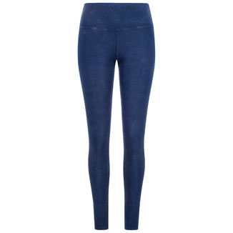 Damen Yoga Leggings stone washed blau