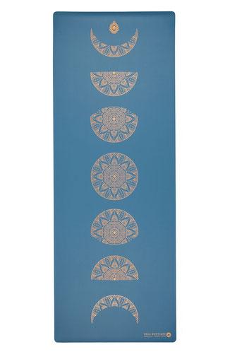 Yogamatte SuperGrip Naturkautschuk PU Mandala Mondphase