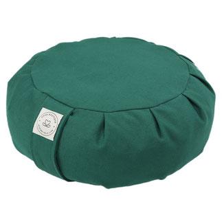 Meditationskissen Zafu grün uni