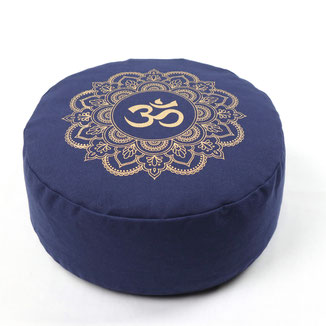Meditationskissen Mandala print gold blau