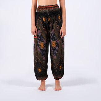 Boho Pants Butterfly schwarz