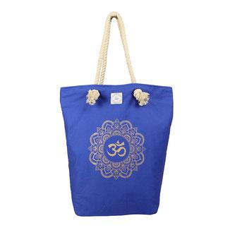Tasche Yoga Mandala OM blau
