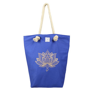 Yoga Tasche blau Lotus