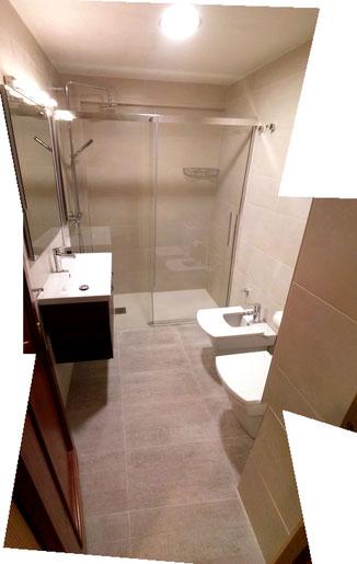 baño completo (lavabo, ducha, inodoro y bide) en pasaia