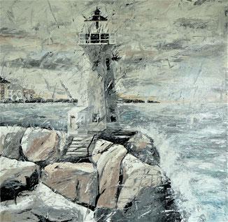 Leuchtturm, Meer, New England
