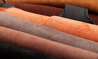 Rindsleder in verschiedenen Farben, echtes Leder