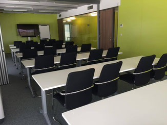Salle de réunion en rangées