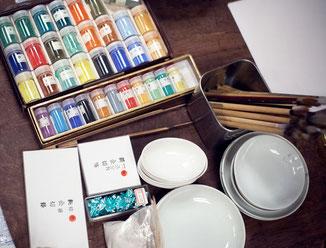 日本画体験, 日本画教室,日本画ワークショップ,日本画