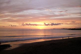 Sonnenuntergang am Strand auf Teneriffa