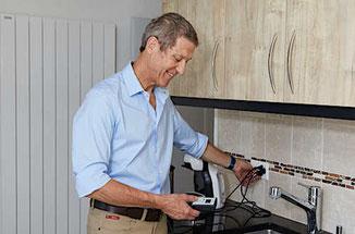 Mesure de l'électricité sale avant filtrage