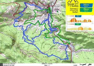 Ronde VTT des 3 Quilles 2015 - Plan des petits parcours