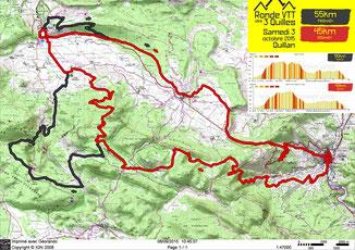 Ronde VTT des 3 Quilles - Plan des grands parcours