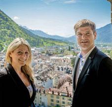 Jessica Kappeler und Peder Kerber, Experten in der Beratung von Handwerker und Techniker