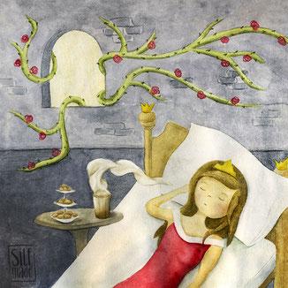Dornröschen erwacht vom Duft eines Latte Macchiato
