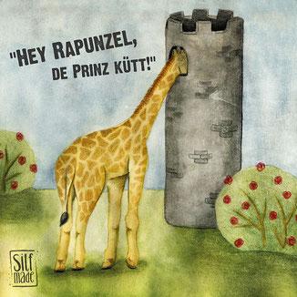 Giraffe schaut ins Rapunzel Turm Verlies