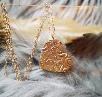 Bronze Herz Anhänger 39 Euro