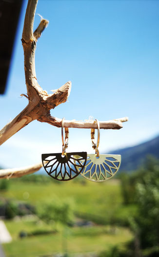 mandala earrings ohrringe messing