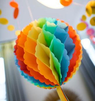 déco baby shower bapteme anniversaire multicolore