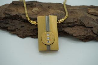 Meisterstück von Steffi Schardelmann - Goldkette mit hochfeinem Anhänger