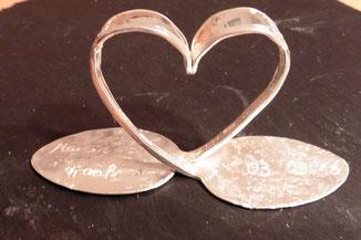 Schmuck aus Silberbesteck - hier ein wunderschönes Hochzeitsgeschenk