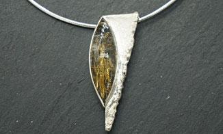 individuelle Silberkette mit Bergkristall aus der Kollektion von Steffi Schardelmann