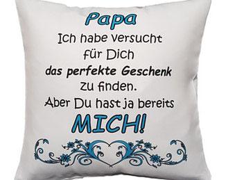 Kissen Papa perfektes Geschenk