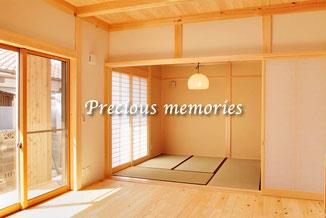 岐阜県多治見市の建築工事写真です。広々とした木造住宅の内観写真です。