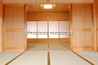 岐阜県可児市の建築工事写真です。木造住宅の和室の内観写真です。