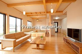 岐阜県各務原市の建築写真です。木造住宅のフローリング内観写真です。