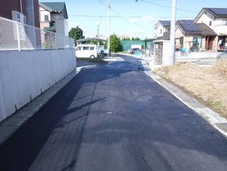 崩免地区法定外道路簡易舗装工事2