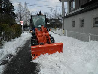 市道除雪写真