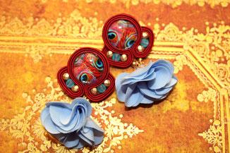 Soutache Schmuck Ohrringe Baramee by Kinari Handmade Jewellery Statementschmuck Designer