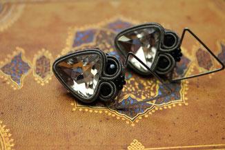 Soutache Schmuck Ohrringe Cassandra Kinari Handmade Jewellery Statementschmuck Designer