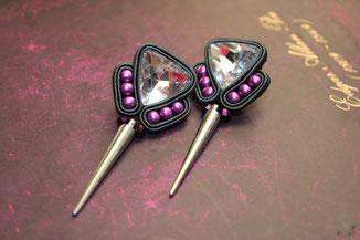Soutache Schmuck Ohrringe Phaedra by Kinari Handmade Jewellery Statementschmuck Desinger