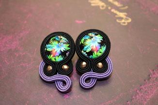 Soutache Schmuck Ohrringe Malu by Kinari Handmade Jewellery Statementschmuck Designer