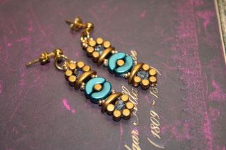 Perlenohrringe Athena by Kinari Handmade Jewellery