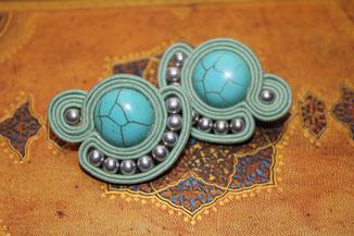 Soutache-Ohrringe Celia by Kinari Handmade Jewellery
