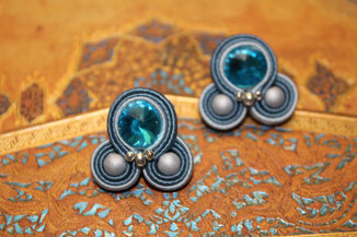 Soutache-Ohrringe Rachelle by Kinari Handmade Jewllery