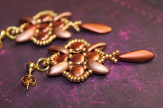 Ohrringe Spider by Kinari Handmade Jewellery