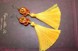 Soutache-Ohrringe Mariella by Kinari Handemade Jewellery
