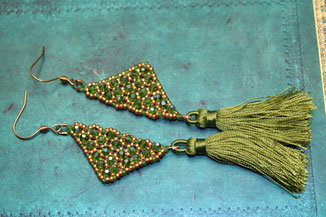 Ohrringe Art Deco by Kinari Handmade Jewellery