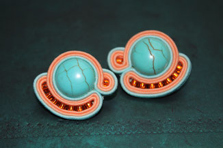 Soutache-Ohrringe Aurelia by Kinari Handmade Jewellery