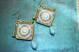 Soutache-Ohrringe Riva by Kinari Handmade Jewellery