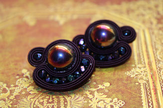 Soutache Schmuck Ohrringe Galatea by Kinari Handmade Jewellery Statementschmuck Designer