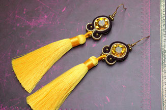 Soutache-Ohrringe Pamina by Kinari Handmade Jewellery