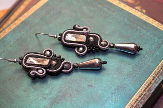 Soutache Schmuck Ohrringe Zaida by Kinari Handmade Jewellery Statementschmuck Designer