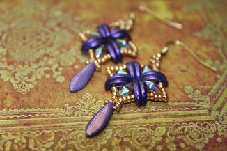 Perlen-Ohrringe Shannon by Kinari Handmade Jewellery