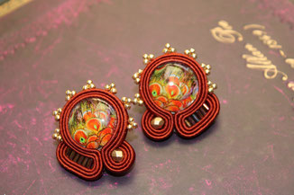 Soutache Schmuck Ohrringe Prospera by Kinari Handmade Jewellery Statementschmuck Designer
