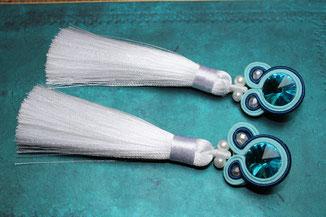 Soutache Schmuck Ohrringe Cardea by Kinari Handmade Jewellery Statementschmuck Designer