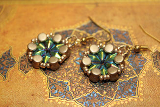 Perlen-Ohrringe Orchidee by Kinari Handmade Jewellery